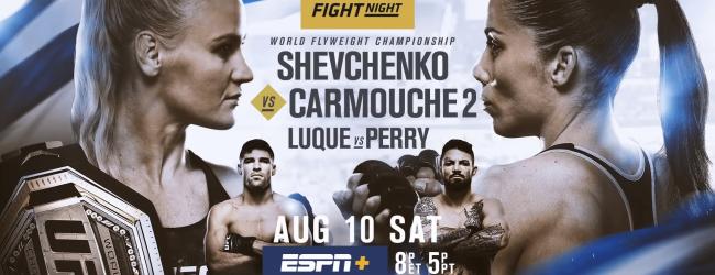 Uitslagen : UFC on ESPN+ 14 Montevideo : Shevchenko vs. Carmouche 2