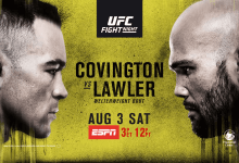 Uitslagen : UFC on ESPN 5 : Covington vs. Lawler