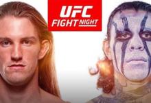 Thomas Gifford treft nieuwkomer Brok Weaver tijdens UFC Tampa