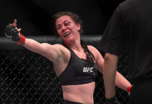 Molly McCann treft UFC debutante Diana Belbita tijdens UFC Boston