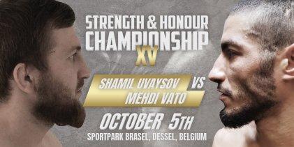 Jasper Wiersma geblesseerd, Uvasyov vs Vato nu voor SHC Featherweight titel