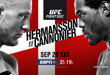 Uitslagen : UFC on ESPN+ 18 Kopenhagen : Hermansson vs. Cannonier