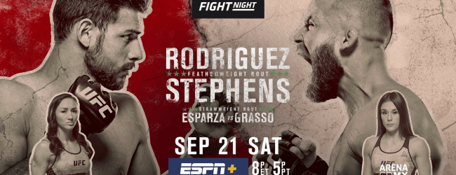 Uitslagen : UFC on ESPN+ 17 Mexico City : Rodriguez vs. Stephens