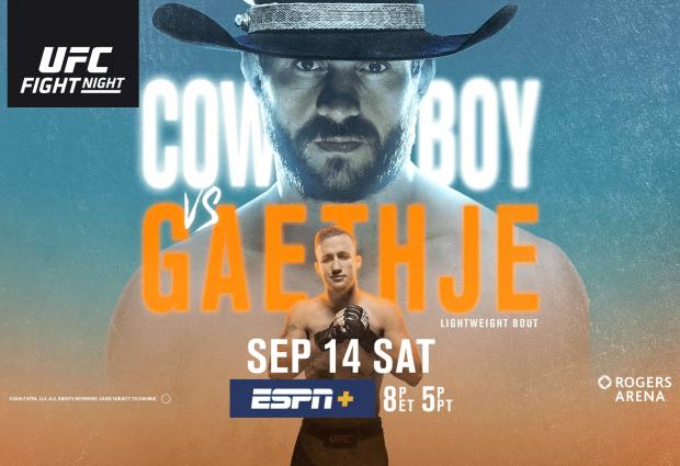 Uitslagen : UFC on ESPN+ 16 Vancouver : Cowboy vs. Gaethje