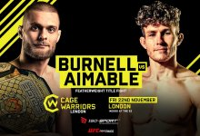 Mads Burnell vs Steve Aimable bevestigd voor Cage Warriors Londen