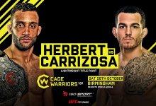 UFC veteraan Cain Carrizosa gaat het opnemen tegen lightweight kampioen Jai Herbert