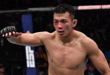 Da Un Jung vecht thuiswedstrijd tijdens UFC Busan tegen Mike Rodriguez