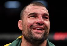 """MMA legende """"Shogun"""" Rua treft Sam Alvey tijdens UFC São Paulo"""