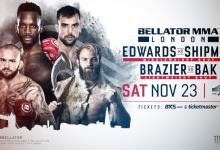 Bellator MMA wederom naar Londen met Edwards vs. Shipman als Main Event