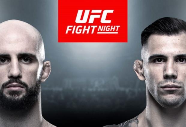 Light-Heavyweightclash tussen Volkan Oezdemir en Aleksandar Rakic tijdens UFC Busan