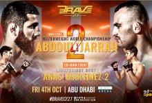 Uitslagen : Brave CF 27 : Abdouraguimov vs. Al Selawe II