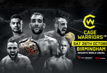 Uitslagen : Cage Warriors 109 : Herbert vs. Carrizosa