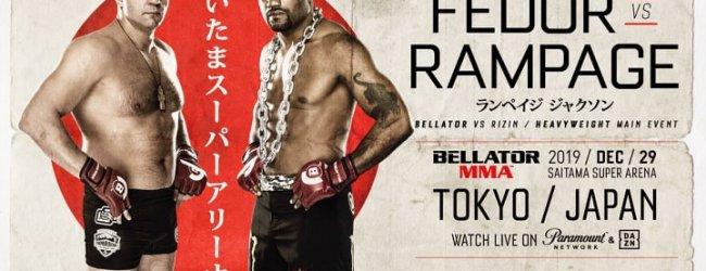 MMA legendes Fedor Emelianenko vs. Rampage Jackson voor Bellator MMA Japan