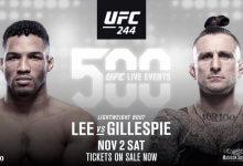 Kevin Lee vs. Gregor Gillespie toegevoegd aan UFC 244 in New York