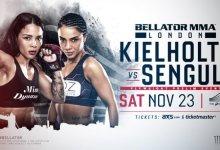 Denise Kielholtz treft Sabriye Şengül tijdens Bellator Londen in November