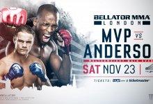 """""""MVP"""" vs. Derek Anderson dient als Main Event voor Bellator Londen"""