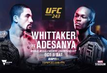 Uitslagen : UFC 243 : Whittaker vs. Adesanya