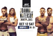 Uitslagen : UFC on ESPN+ 19 Tampa : Jedrzejczyk vs. Waterson
