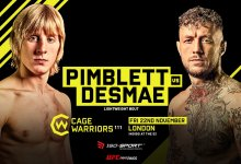 Paddy Pimblett vs Donovan Desmae gereed voor Cage Warriors 111
