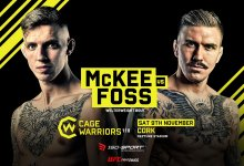 Rhys McKee vs Håkon Foss wordt CW110 main event in Ierland