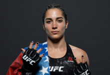 Veronica Macedo treft Amanda Lemos tijdens UFC Busan