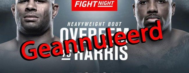 Overeem vs. Harris geannuleerd!