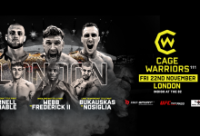 Uitslagen : Cage Warriors 111 : Webb vs. Frederick 2