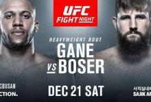 Heavyweight sensatie Ciryl Gane treft Tanner Boser tijdens UFC Busan