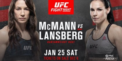 Gevecht tussen Sara McMann en Lina Länsberg toegevoegd aan UFC Raleigh