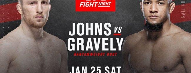Welshman Brett Johns treft nieuwkomer Tony Gravely tijdens UFC Raleigh
