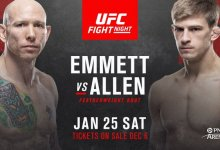 Featherweights Josh Emmett en Arnold Allen treffen elkaar tijdens UFC Raleigh