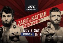 Uitslagen : UFC on ESPN+ 21 Moscow : Zabit vs. Kattar