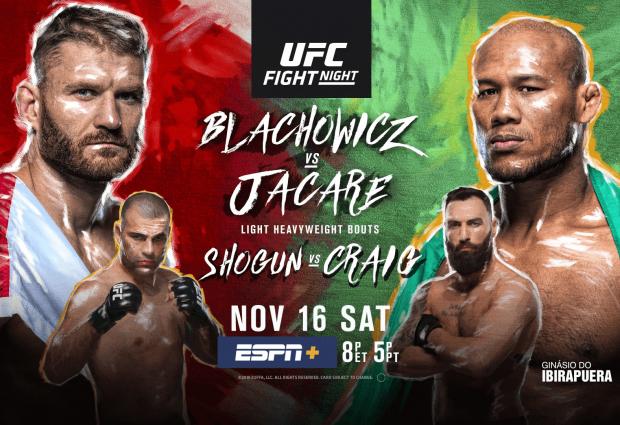 Uitslagen : UFC on ESPN+ 22 São Paulo : Blachowicz vs. Jacaré