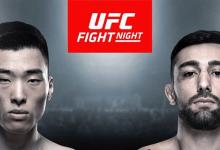 Seung Woo Choi vecht voor eigen publiek tegen Suman Mokhtarian tijdens UFC Busan