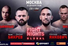 Uitslagen : Fight Nights Global : Russian MMA Awards 2019