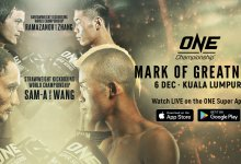 Uitslagen : ONE Championship 105 : Mark of Greatness