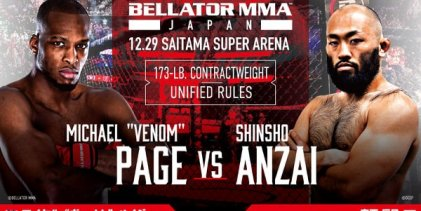 Michael 'Venom' Page vs. Shinsho Anzai voor Bellator & Rizin: Japan