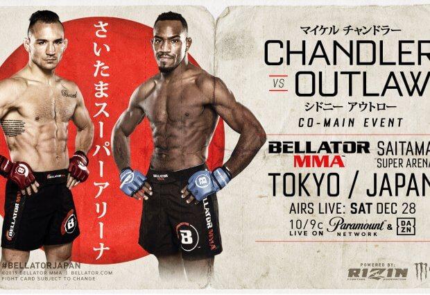 Short notice gevecht voor Sidney Outlaw tegen Michael Chandler tijdens Bellator 237 in Japan