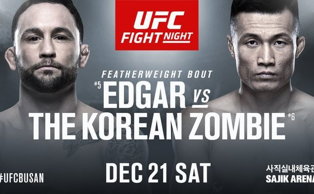 UFC Busan krijgt nieuw Main Event: Edgar vs. The Korean Zombie