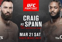 Paul Craig krijgt met Ryan Spann wederom te maken met Fortis MMA tijdens UFC Londen