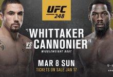 Robert Whittaker vs. Jared Cannonier toegevoegd aan UFC 248