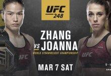 Weili Zhang zet titel op het spel tegen voormalig kampioen Joanna Jedrzejczyk tijdens UFC 248