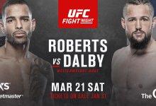 Danny Roberts treft Nicolas Dalby tijdens UFC Londen
