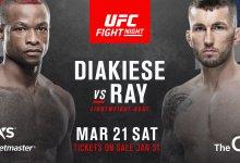 Engeland vs. Schotland clash tussen Marc Diakiese en Stevie Ray tijdens UFC Londen
