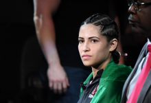 Emily Whitmire treft Polyana Viana tijdens UFC 248 in Las Vegas