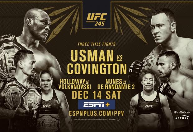 Uitslagen : UFC 245 : Usman vs. Covington