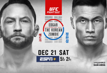 Uitslagen : UFC on ESPN+ 23 Busan : Edgar vs. The Korean Zombie