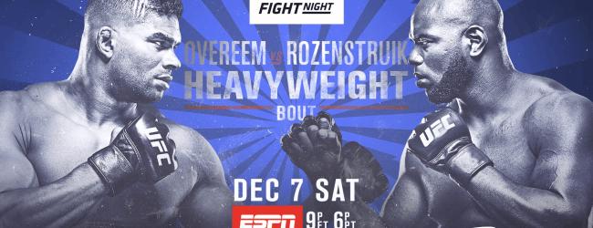 Uitslagen : UFC on ESPN 7 : Overeem vs. Rozenstruik