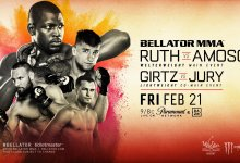 Ed Ruth vs. Yaroslav Amosov is het Main Event voor Bellator 239 in Thackerville