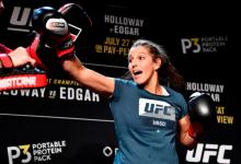 Felicia Spencer treft Zarah Fairn Dos Santos tijdens UFC Norfolk